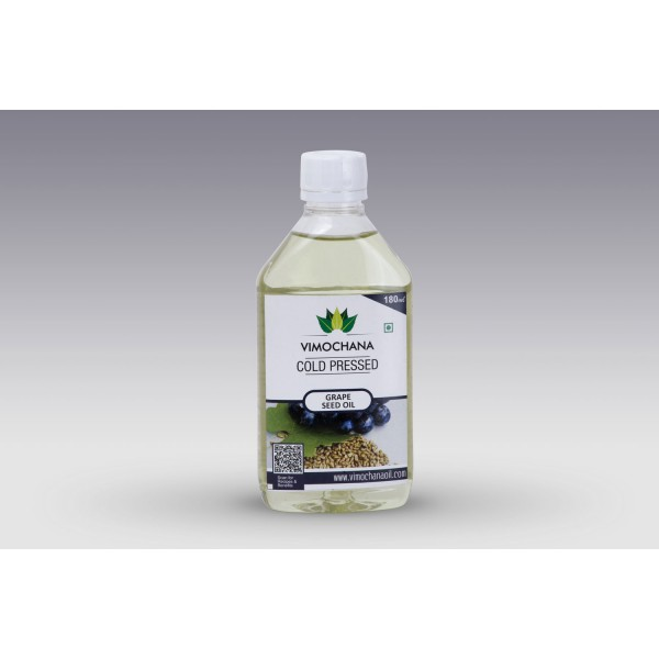 COLD PRESSED, GRAPE SEED OIL, EDIBLE-180 ML