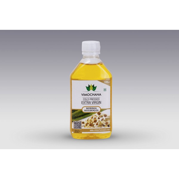 COLD PRESSED, MORINGA SEED OIL, EDIBLE- 180ML